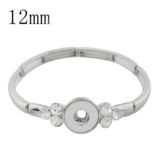 1 buttons snap sliver bracelet fit 12MM snaps style jewelry KS1170-S