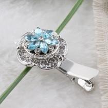 12mmデザインチャンクジュエリー用の青いラインストーン付きの小さなサイズのスナップ