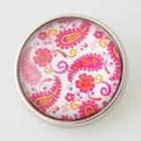 20MM оснастке стекла розовый Декоративный рисунок KB2855-N взаимозаменяемы щелкает ювелирные изделия