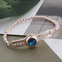 12MM broche redondo de oro rosa con diamantes de imitación azul oscuro KS9688-S broches de joyería