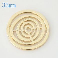 Moneda de aleación 33 mm en forma de medallón tipo joyería 021