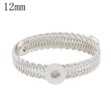 1 buttons snaps silver copper Bracelets KS1233-S fit 12MM snaps chunks