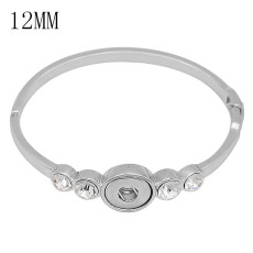 Snap bracelet White rhinestone fit 12MM snaps jewelry KS1279-S