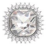 Diseño 20MM chapado en plata con diamantes de imitación blancos KC6778 broches de joyería