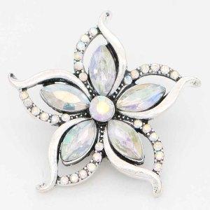 Astilla de diseño 20MM plateada con diamantes de imitación de colores KC6713 broches de joyería