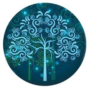 Дерево 20MM Окрашенная эмаль по металлу C5903 принт голубой