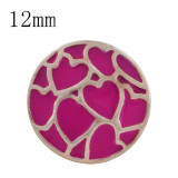 Heart rose gold Plated with rose enamel KS6326-S Diameter 12MM
