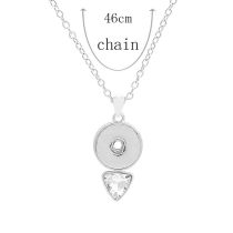 Pendant Necklace with 46CM chain KC1086 20MM chunks snaps jewelry