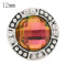 12MM design snap antique sliver Plated with colorful Rhinestone KS6371-S snap jewelry