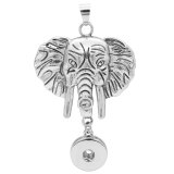 Elephant snap sliver Pendant fit 20MM snaps style jewelry KC0442