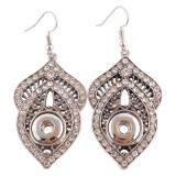 Snaps metal earring with Rhinestones KS0933-S fit 12mm chunks snaps jewelry