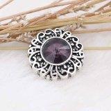 12MM snap février pierre de naissance violet KS6377-S snaps interchangeables bijoux