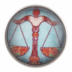 20MM snap glass Twelve constellations-LIBRA C0037 interchangable snaps jewelry