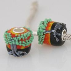 13*14mm partner S925 murano lampwork glass beads
