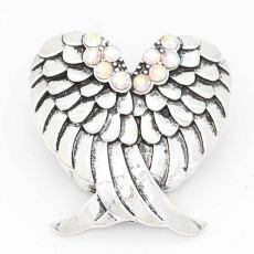 20MM Wings snap sliver Plated with rhinestones KC6708 snaps jewelry