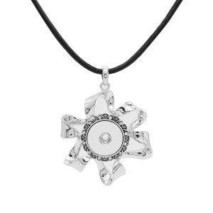 pendant Necklace with 80CM Cortex chain KC1304 fit 20MM chunks snaps jewelry