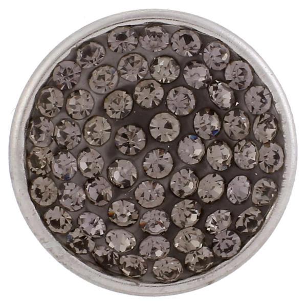 Broches de azúcar 18mm Aleación con diamantes de imitación grises Joyas de broches KB2324