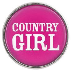 20MM Schnappglas Country Girl C0968 auswechselbar rosarot