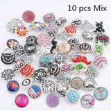 10pcs / lot Mix Todo tipo de tipos snap MixMix todos los estilos 20mm Botones Snap MIX estilo aleatorio
