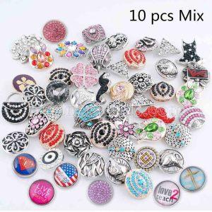 10pcs / lot Mischen Sie alle Arten Arten Verschluss MixMix alle Arten 20mm Druckknöpfe MISCHEN Sie Art für gelegentliches