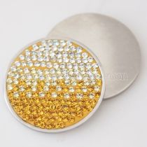 33MM Stainless steel coin disc with rhinestone fit  jewelry