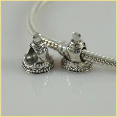 partner antique sterling silver beads with screw thread