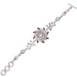 Высококачественный металлический браслет со стразами и мелкими аксессуарами 22CM fit 18 и 20MM 1 кнопки защелки Ювелирные изделия
