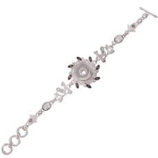 Bracelet en métal de haute qualité avec strass et petits accessoires 22CM pour 18 et 20MM 1 boutons s'enclenchent Bijoux