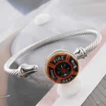 20MM fire Painted enamel metal C5397 print snaps jewelry