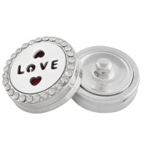 22mm white alloy love Aromatherapy/Essential Oil Diffuser Perfume Locket snap with 1pc 15mm discs as gift