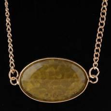 Collier de pierres semi-précieuses avec chaîne 80CM Taille de pierre 2 * 3cm