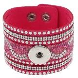 Partnerbeads 21CM rosafarbene Lederarmbänder passen zu 18 / 20MM Snaps Chunks KC0299 Snaps Schmuck