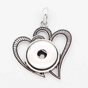 snap sliver Pendant with  fit 20MM snaps style jewelry KC0439