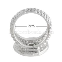 size 18.5mm metal Ring fit mini 12mm snaps