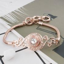 12MM round Rose Gold Plated with white rhinestone KS6286-S snaps jewelry