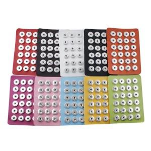 Affichage de pièces 24 en cuir PU de type noir pour 18 et 20MM encliquetent des morceaux