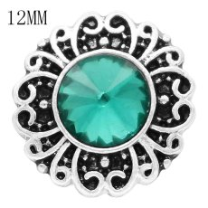 12MM snap May birthstone green KS6380-S broches intercambiables joyería