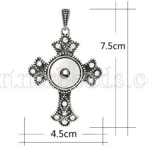 Colgante de collar en forma de broches estilo 18mm / 20mm trozos de joyería