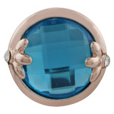 20MM design Rose Gold Plated with blue rhinestone KC9842 snaps jewelry