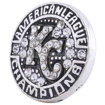 20MM champion de la ligue snap Silver Plated avec strass blanc KC6207 snaps bijoux