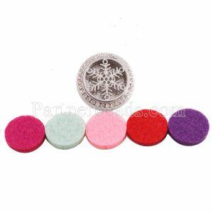 25mm weiße Legierung Star Aromatherapie / Ätherisches Öl Diffusor Parfüm Medaillon Snap mit 1pc Mix Farbscheiben als Geschenk