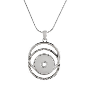 Pendant sliver Necklace with 60CM chain KC1048 snaps jewelry