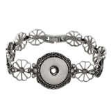 18CM Les boutons 1 enfoncent le bracelet en forme de strass avec l'ajustement en strass 18 et 20MM enlèvent les morceaux
