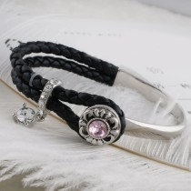 12MM design snap sliver plated with pink Rhinestone KS6300-S snaps jewelry