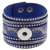 Partnerbeads 21CM blaue Lederarmbänder passen zu 18 / 20MM Snaps Chunks KC0295 Snaps Schmuck