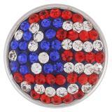 Broches de azúcar 18mm Aleación con diamantes de imitación Joyas de broches KB2409-AA