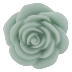 18MM Broche fleur en alliage vert résine KB2299 mousqueton interchangeable