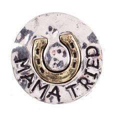 20MM Лошадь мать копыта щелкает античное серебро и позолоченные KB6856 оснастки ювелирные изделия