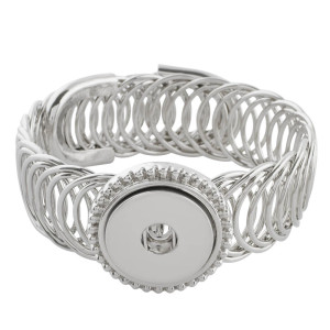 Partnerbeads 1 button snaps metal bracelet fit snaps chunks KC0622