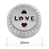 22mm weiße Legierung Liebe Aromatherapie / Ätherisches Öl Diffusor Parfüm Medaillon Snap mit 1pc 15mm Scheiben als Geschenk